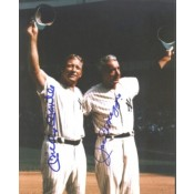 Mickey Mantle and Joe DiMaggio Autographed Photo
