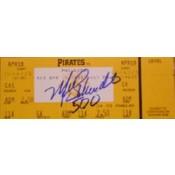 Mike Schmidt 500 Home Run Autographed Ticket