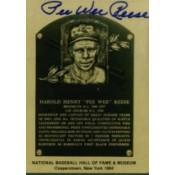 Pee Wee Reese Autographed Metallic HOF Card