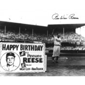 "Pee Wee Reese ""Happy Birthday"" Autographed Photo"