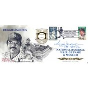 Reggie Jackson Autographed 1993 Hall of Fame Induction Cachet