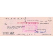 Stan Musial Signed Cancelled Personal Check