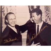Stan Musial and Ted Williams Celebrating Babe Ruth Crown Autographed Photo