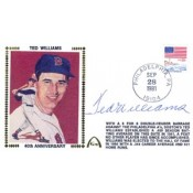 Ted Williams Autographed Gateway Cover of 40th Anniversary of .406 Season