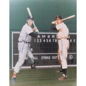 Joe DiMaggio and Ted Williams Autographed Super Imposed Photo