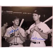 Ted Williams and Stan Musial Autographed Photo