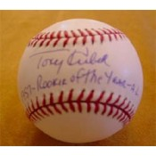 Tony Kubek Autographed Baseball with 1957 Rookie of the Year A.L. Inscription