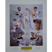Ted Williams Hitters Hall of Fame Autographed Poster