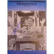 Carl Yastrzemski Autographed Merrimack College Magazine