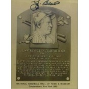 Yogi Berra Autographed Metallic HOF Card