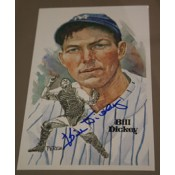 Bill Dickey Autographed Perez-Steele Art Postcard
