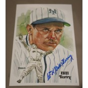 Bill Terry Autographed Perez-Steele Art Postcard