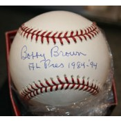 Bobby Brown Autographed Baseball