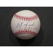Carl Yastrzemski Autographed Baseball with TC 67 Inscription