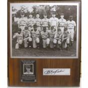 Carl Yastrzemski Autographed Little League Plaque