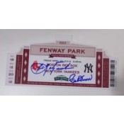 Commemorative Ticket from 100 years of Fenway Park Celebration Autographed by Carl Yastrzemski and Bobby Doerr