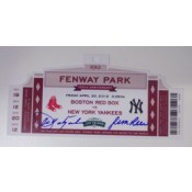 Commemorative Ticket from 100 years of Fenway Park Celebration Autographed by Carl Yastrzemski and Jim Rice