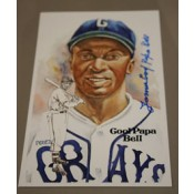 Cool Papa Bell Autographed Perez-Steele Art Postcard