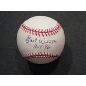 Earl Weaver Autographed Baseball with HOF 96 Inscription