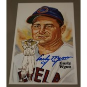 Early Wynn Autographed Perez-Steele Art Postcard
