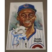 Ernie Banks Autographed Perez-Steele Art Postcard