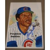 Ferguson Jenkins Autographed Perez-Steele Art Postcard