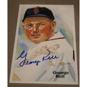 George Kell Autographed Perez-Steele Art Postcard
