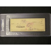 Hank Aaron Signed Cancelled Personal Check