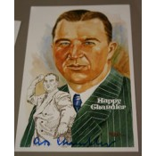 Happy Chandler Autographed Perez-Steele Art Postcard