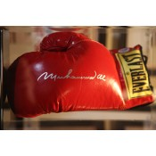 Signed in Mint Condition Muhammad Ali Boxing Glove with silver inscription
