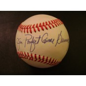 Jim Bunning Autographed Baseball with Perfect Game Inscription