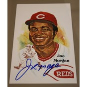 Joe Morgan Autographed Perez-Steele Art Postcard