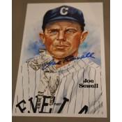 Joe Sewell Autographed Perez-Steele Art Postcard