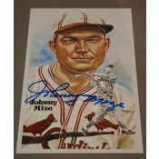 Johnny Mize Autographed Perez-Steele Art Postcard
