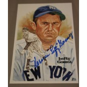 Lefty Gomez Autographed Perez-Steele Art Postcard