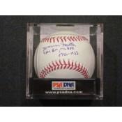 Marvin Miller Autographed Baseball with Exec. Dir MLBPA 1966-1983 Inscription