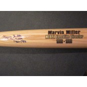 Marvin Miller Autographed Bat with Exec Dir MLBPA 1966-1983 Inscription