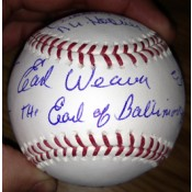 6 Oriole Hall of Famers Signed Baseball with Nicknames