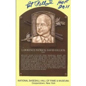 Pat Gillick Autographed Gold HOF Postcard