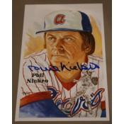 Phil Niekro Autographed Perez-Steele Art Postcard