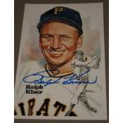 Ralph Kiner Autographed Perez-Steele Art Postcard