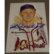 Red Schoendienst Autographed Perez-Steele Art Postcard