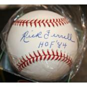 Rick Ferrell Autographed Baseball HOF