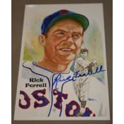 Rick Ferrell Autographed Perez-Steele Art Postcard