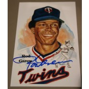 Rod Carew Autographed Perez-Steele Art Postcard