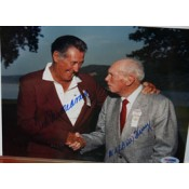 Ted Williams and Bill Terry Autographed Photo