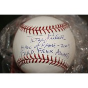 Tony Kubek Autographed Baseball with Hall of Fame 2009 and Ford Frick Award Inscription