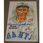 Travis Jackson Autographed Perez-Steele Art Postcard