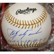 Gold Glove Baseball Signed by Carl Yastrzemski with the 7 years he won the awards Inscribed