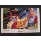 Carl Yastrzemski Leroy Neiman Autographed Poster
